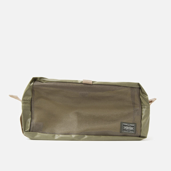 Medium Snack Pouch from Porter Yoshida in Olive Drab Blues Store