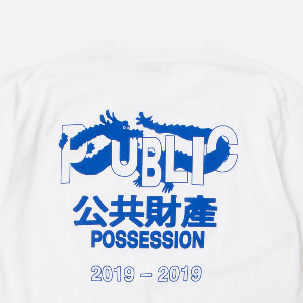 Public Possession Fortune T-shirt in White Blues Store