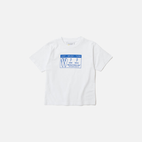 Public Possession Kids Dental Care T-shirt in White Blues Store
