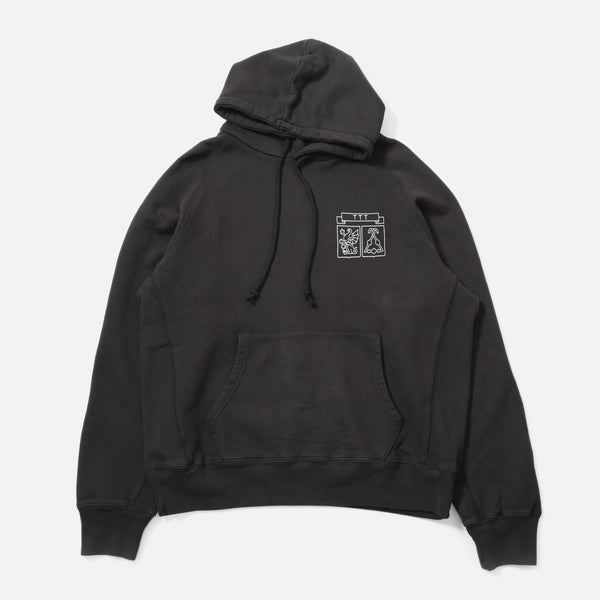 TTT Shield Hooded Sweatshirt in Black from The Trilogy Tapes spring 2020 collection blues store www.bluesstore.co