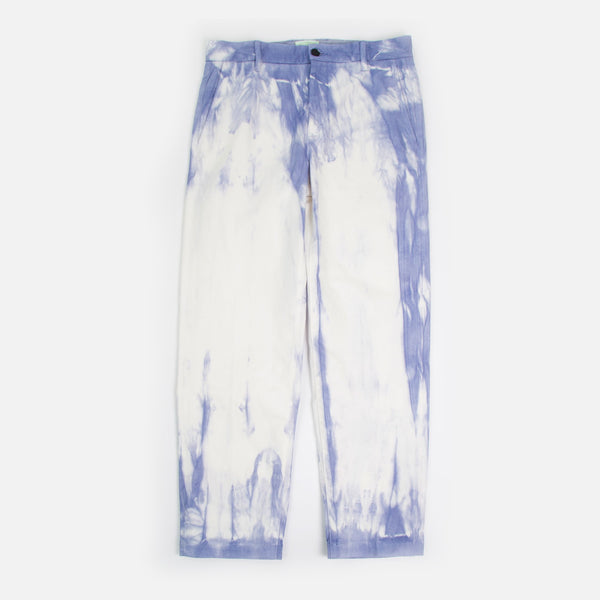 Tie Dye Chino in custom Purple / White Tie Dye from Aries Spring / Summer 2020 collection blues store www.bluesstore.co