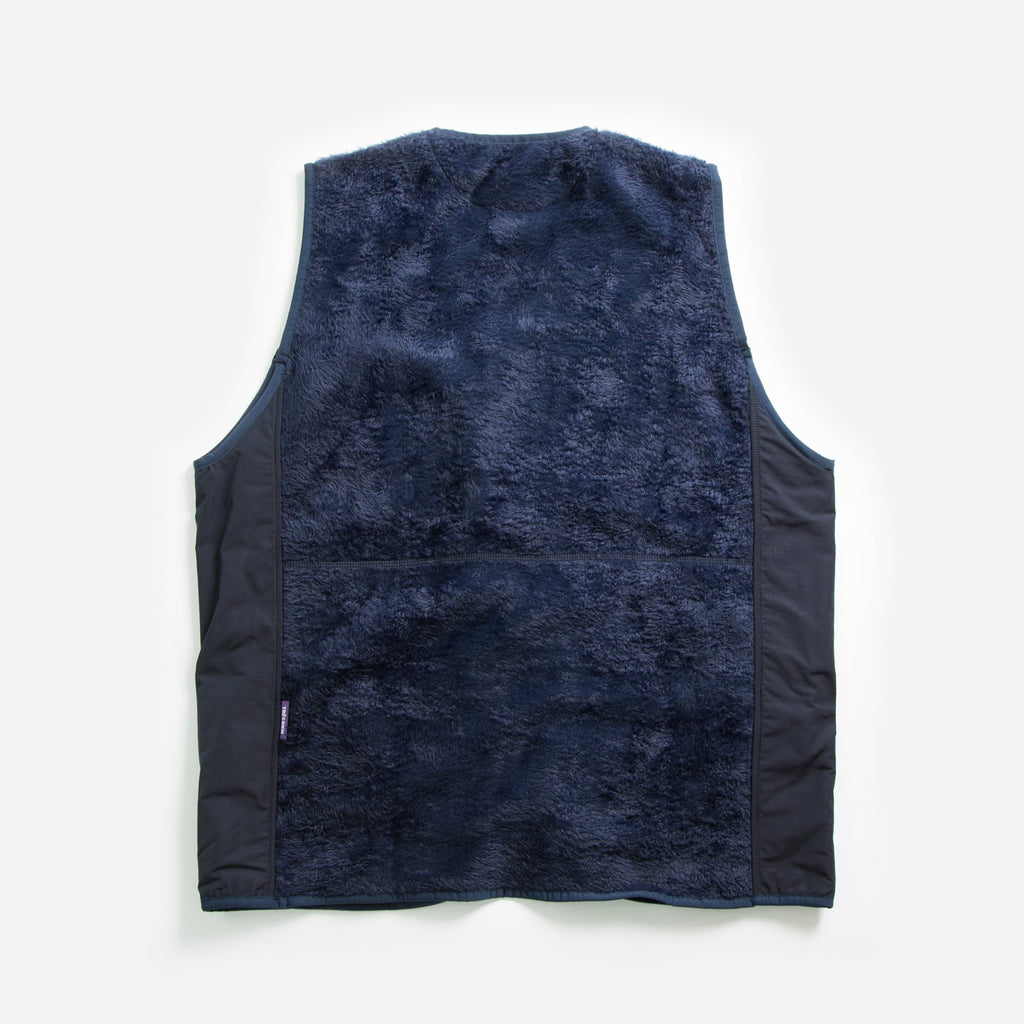 Tres Bien / Sneeze Fuzz Fleece Vest in Navy blues store www.bluesstore.co