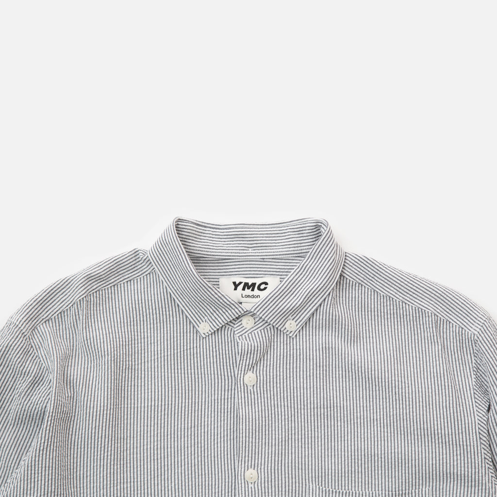 Dean Shirt in Navy and Ecru stripe from the spring / summer 2020 You Must Create menswear collection blues store www.bluesstore.co