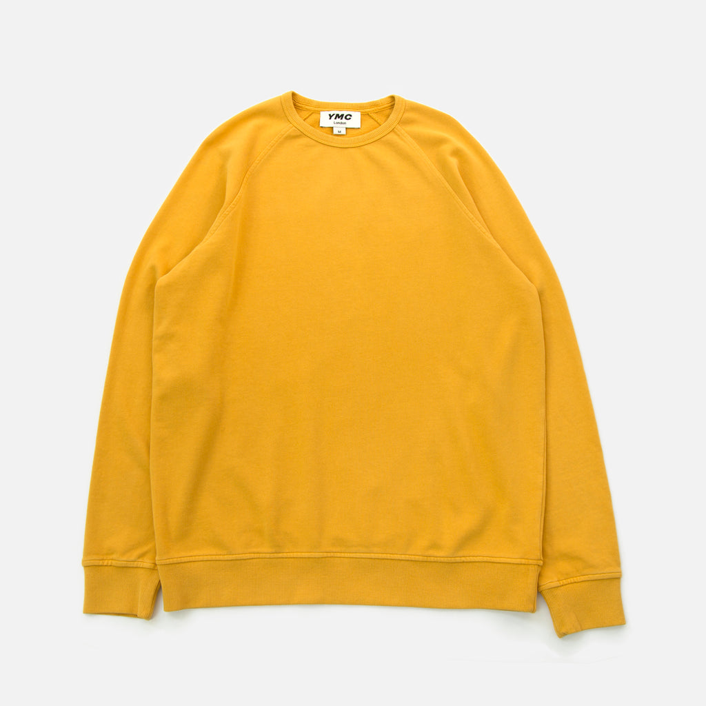 Schrank Raglan Sweatshirt in Yellow from the spring summer 2020 You Must Create menswear collection blues store www.bluesstore.co