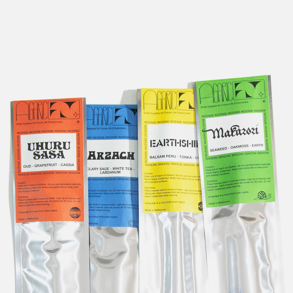 Uhuru Sasa fragrance incense from Agaric Fly blues store www.bluesstore.co