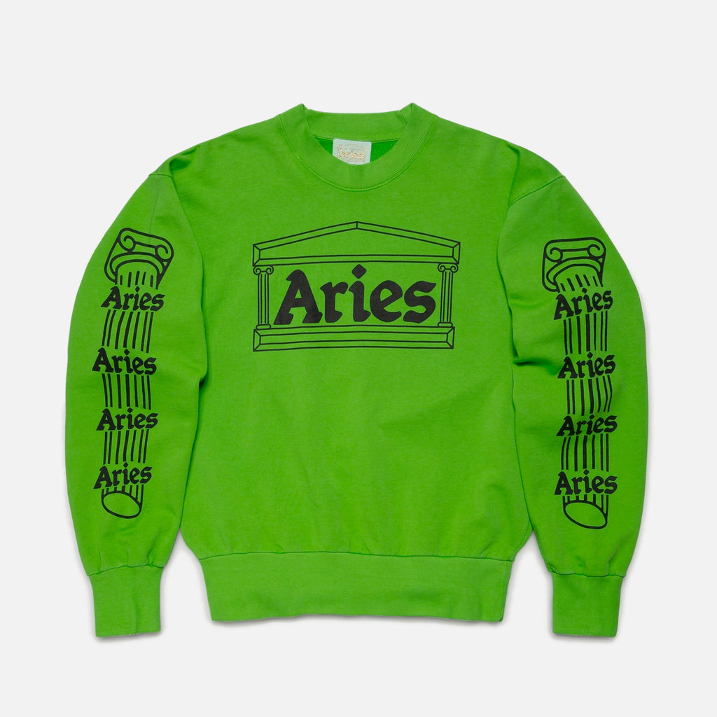 Column Sweatshirt in Green from Aries Arise clothing blues store www.bluesstore.co