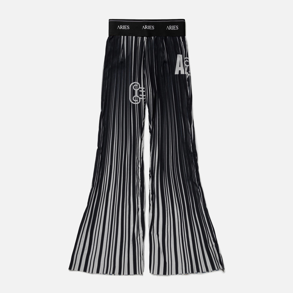 Pleated Graphic Bell Bottoms from Aries Arise blues store www.bluesstore.co