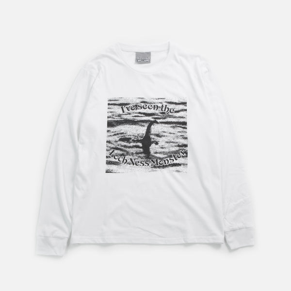 Ashley Williams Loch Ness Longsleeve T-shirt in White blues store www.bluesstore.co