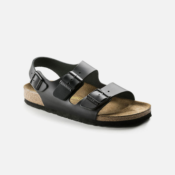 Milano Natural Leather in Black from Birkenstock blues store www.bluesstore.co