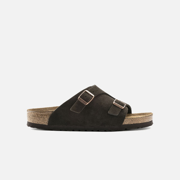 Zürich Soft Footbed in Mocha Suede from Birkenstock blues store www.bluesstore.co