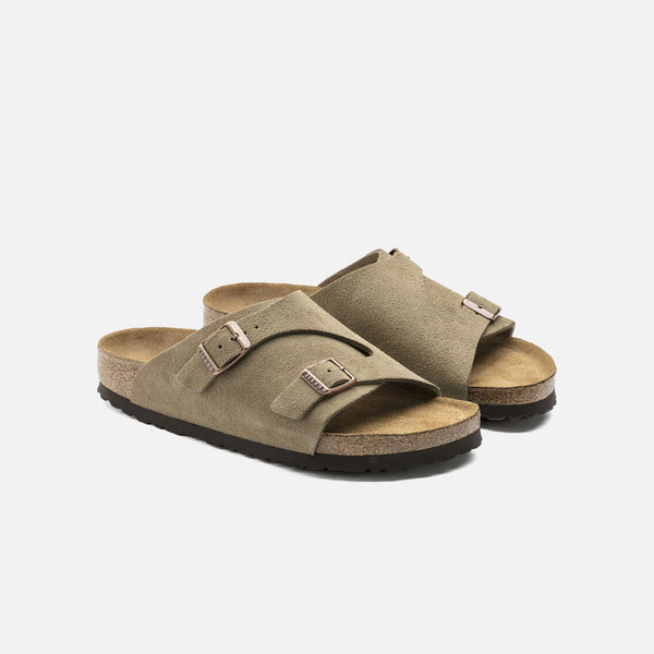 Zürich Soft Footbed in Taupe Suede from Birkenstock blues store www.bluesstore.co