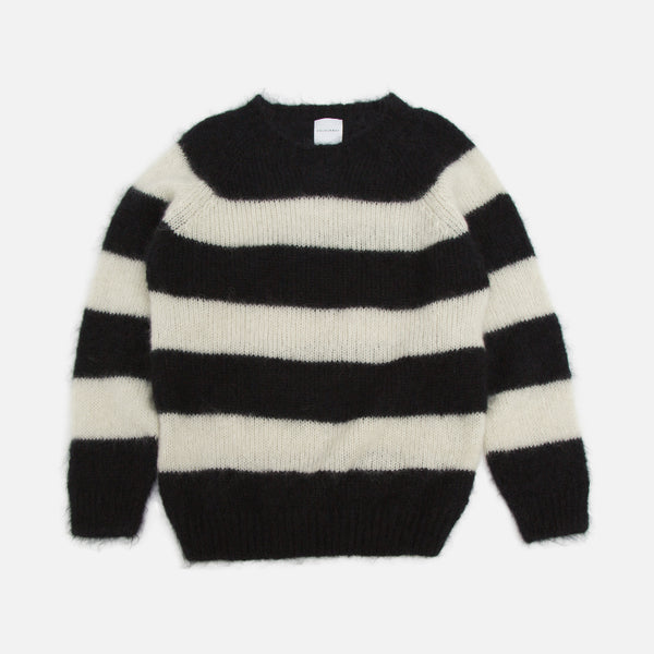 Colourway Black & White Stripe Mohair Pullover