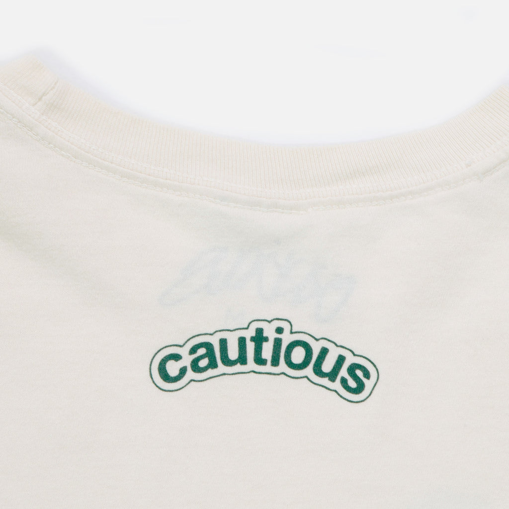 Footprint Longsleeve T-shirt in Ivory from New York based Cautious blues store www.bluesstore.co