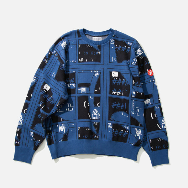Grid Knit Pullover from Cav Empt blues store www.bluesstore.co