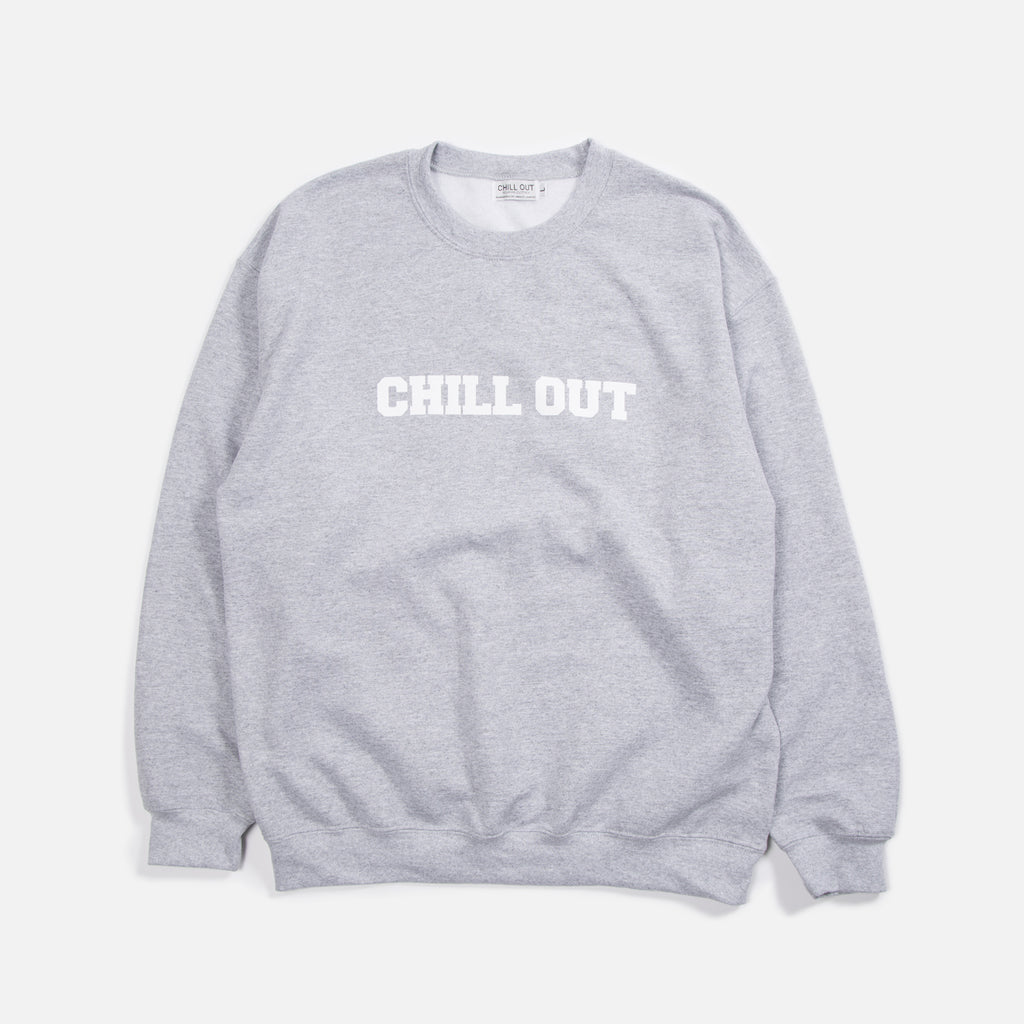 Chill Out Logo Sweatshirt Heather Grey Blues Store
