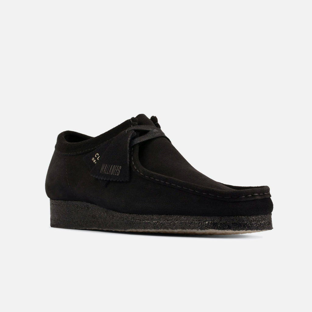 The Wallabee in Black Suede from Clarks Originals blues store www.bluesstore.co
