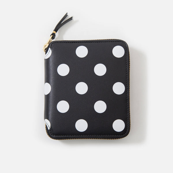Comme des Garcons Classic Leather - Black / White Dot SA2100PD blues store www.bluesstore.co