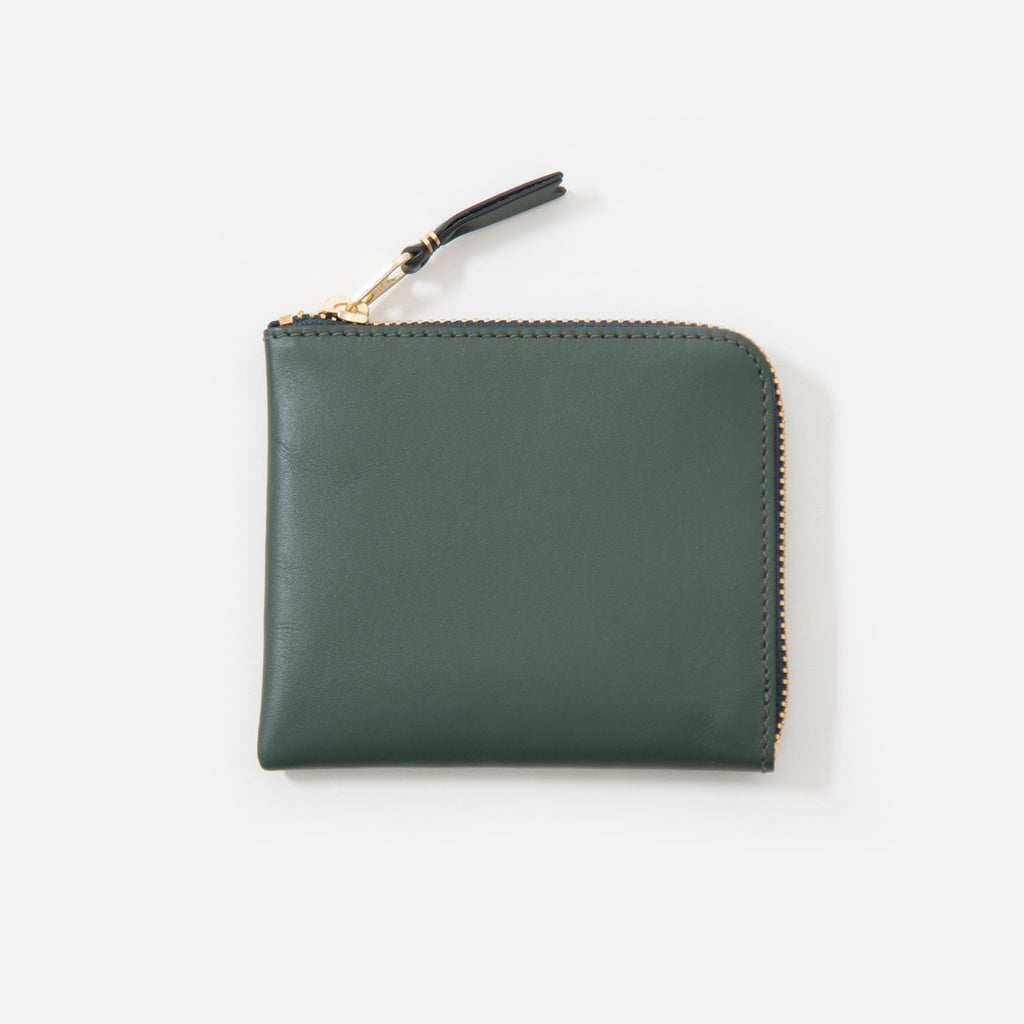Comme des Garcons Classic Leather Wallet in Bottle Green SA3100 blues store www.bluesstore.co
