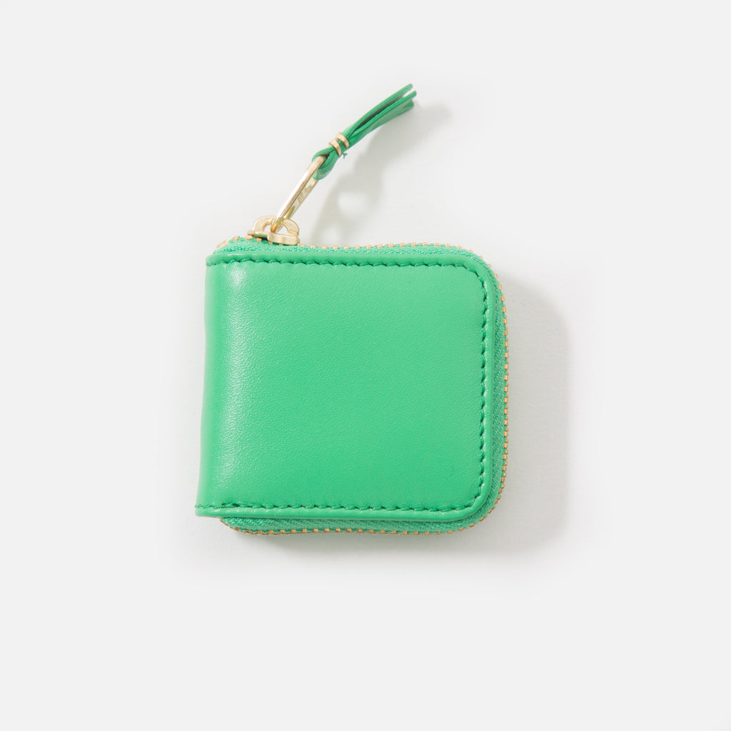 Comme des Garcons Classic Leather Wallet in Green SA4100 blues store www.bluesstore.co