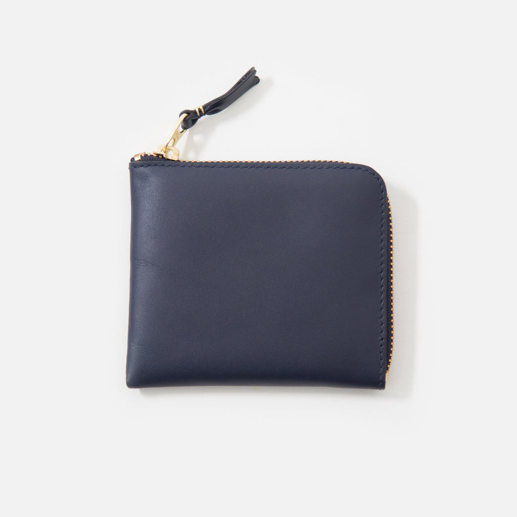 Comme des Garcons Classic Leather Wallet in Navy SA3100 blues store www.bluesstore.co