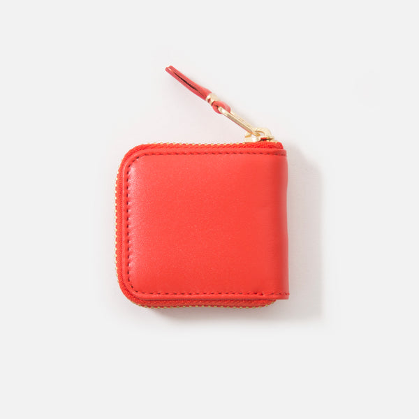 Comme des Garcons Classic Leather Wallet in Orange SA4100 blues store www.bluesstore.co