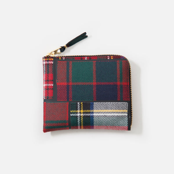 Comme des Garcons Tartan Patchwork Wallet in Red Wool SA3100TP blues store www.bluesstore.co