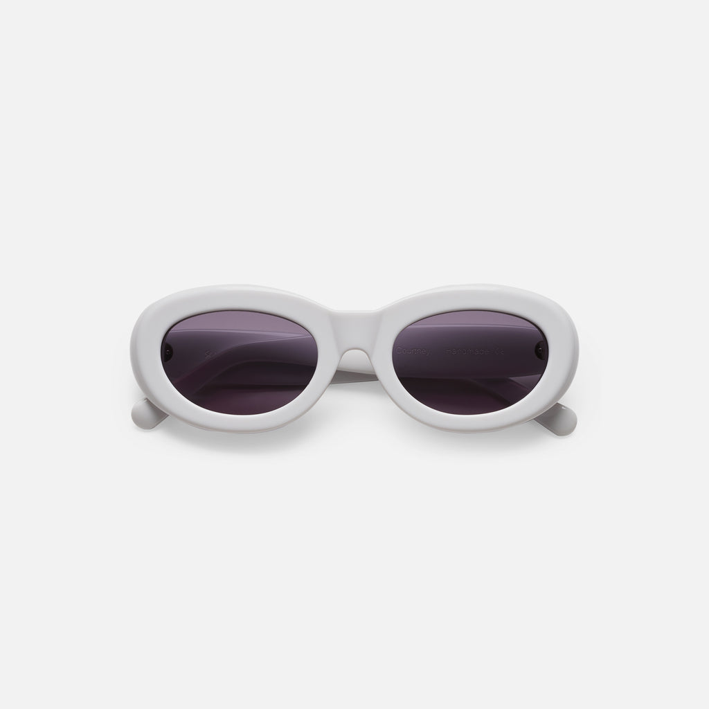 Sun Buddies Courtney Sunglasses - Solid White
