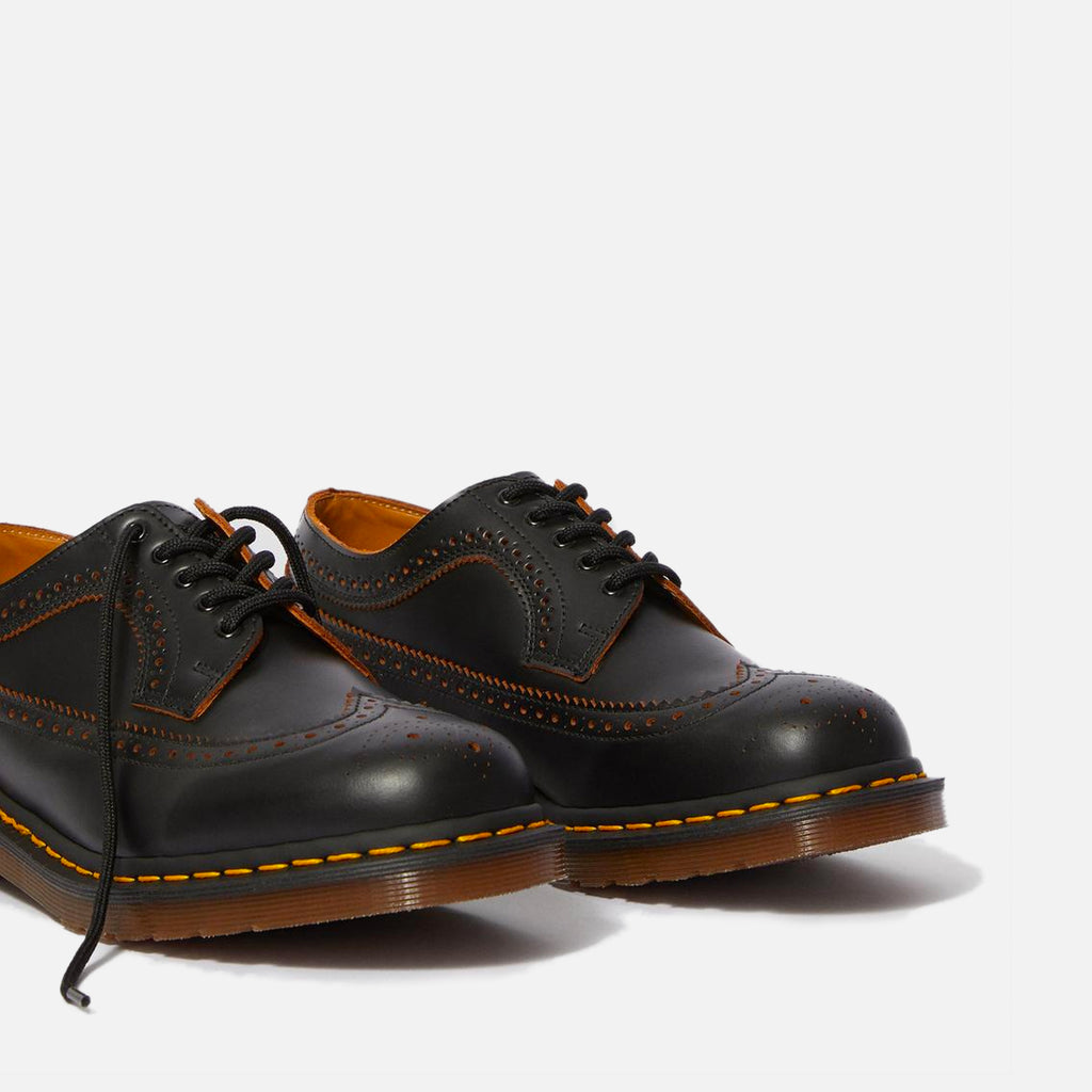 The Made in England Vintage 3989 Brogue in Black Quilon blues store www.bluesstore.co