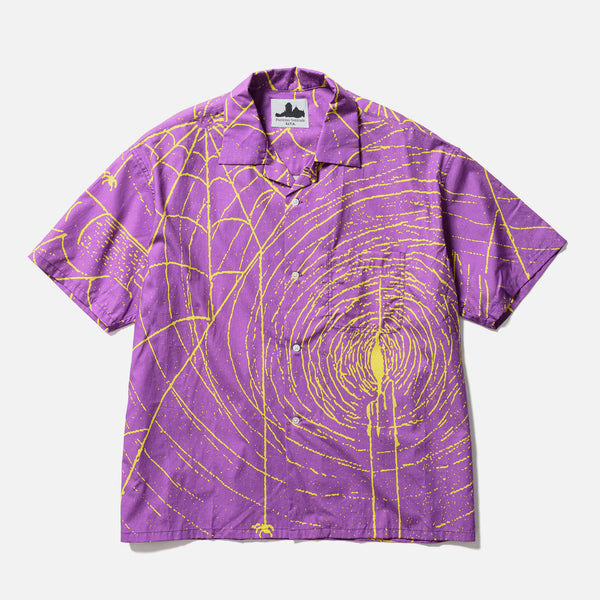 Fortress Solitude short sleeve Spider Shirt in purple blues store www.bluesstore.co