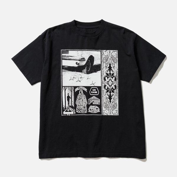 Fortress Solitude short sleeve reversible print t-shirt in black blues store www.bluesstore.co