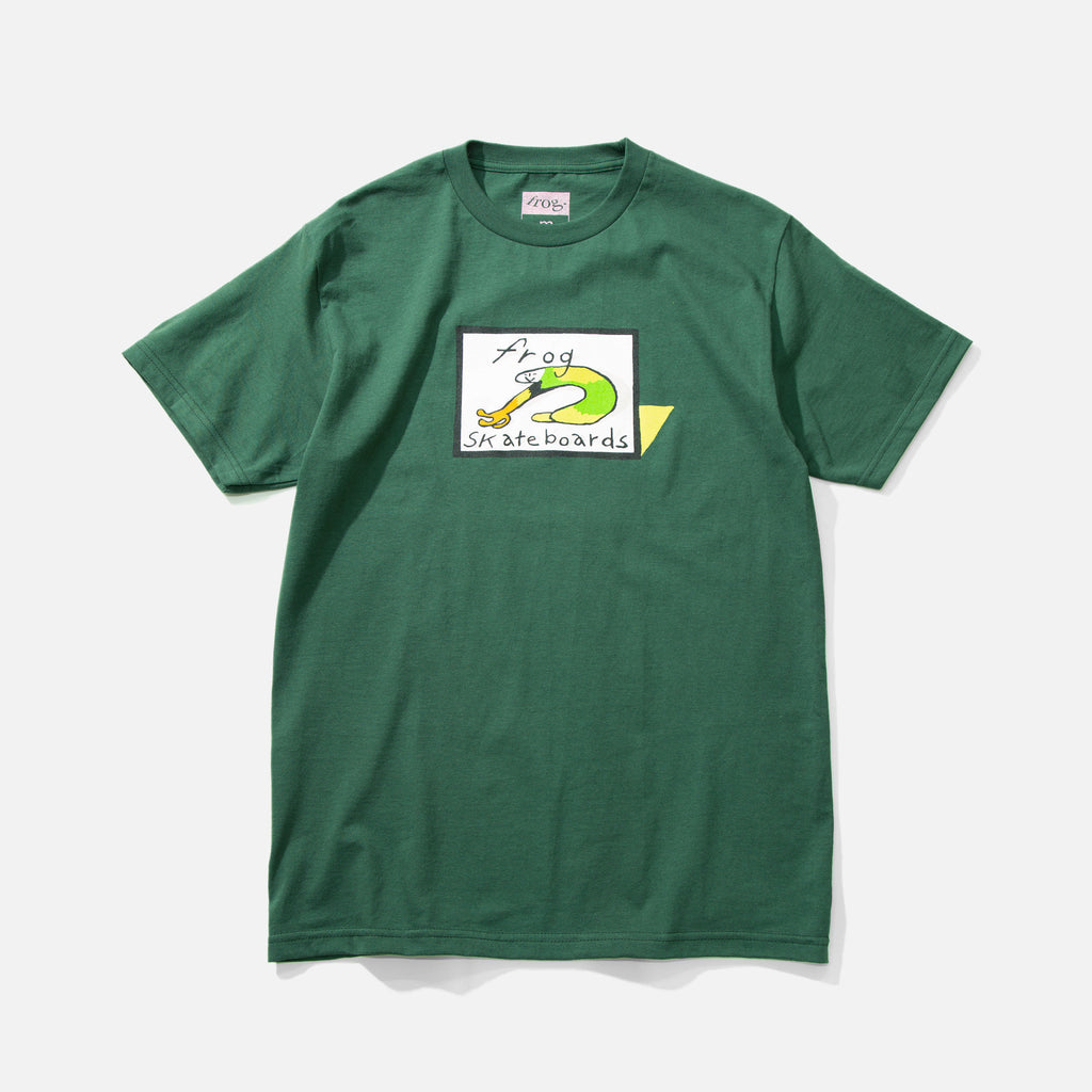Classic Frog Logo T-shirt in Forest Green from Frog Skateboards blues store www.bluesstore.co