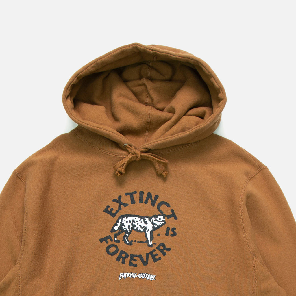 Extinct Hoodie in saddle from Fucking Awesome blues store www.bluesstore.co