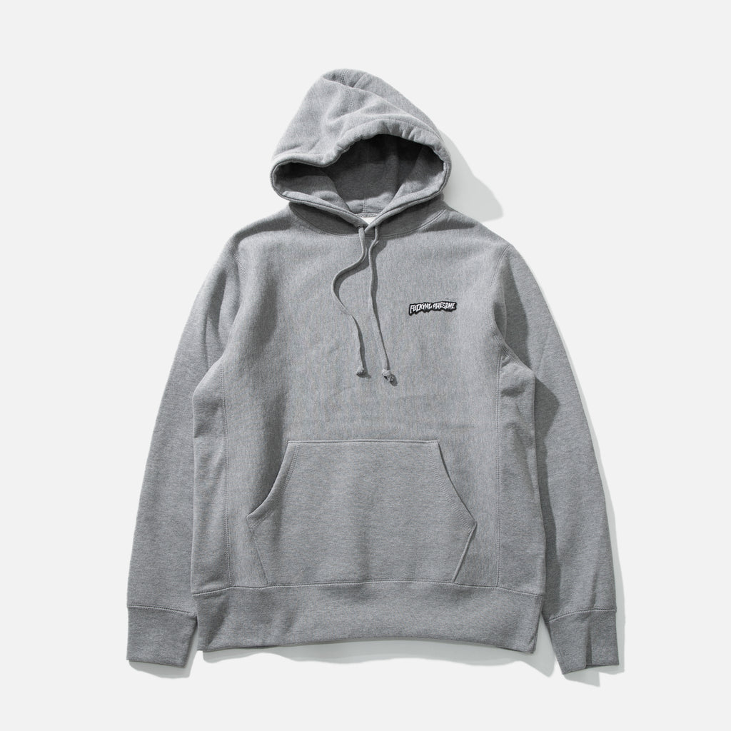 Little Stamp Hoodie in Gun Metal from Fucking Awesome blues store www.bluesstore.co