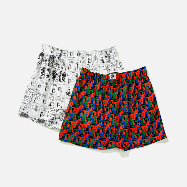 Two pack of boxer shorts from Fucking Awesome blues store www.bluesstore.co