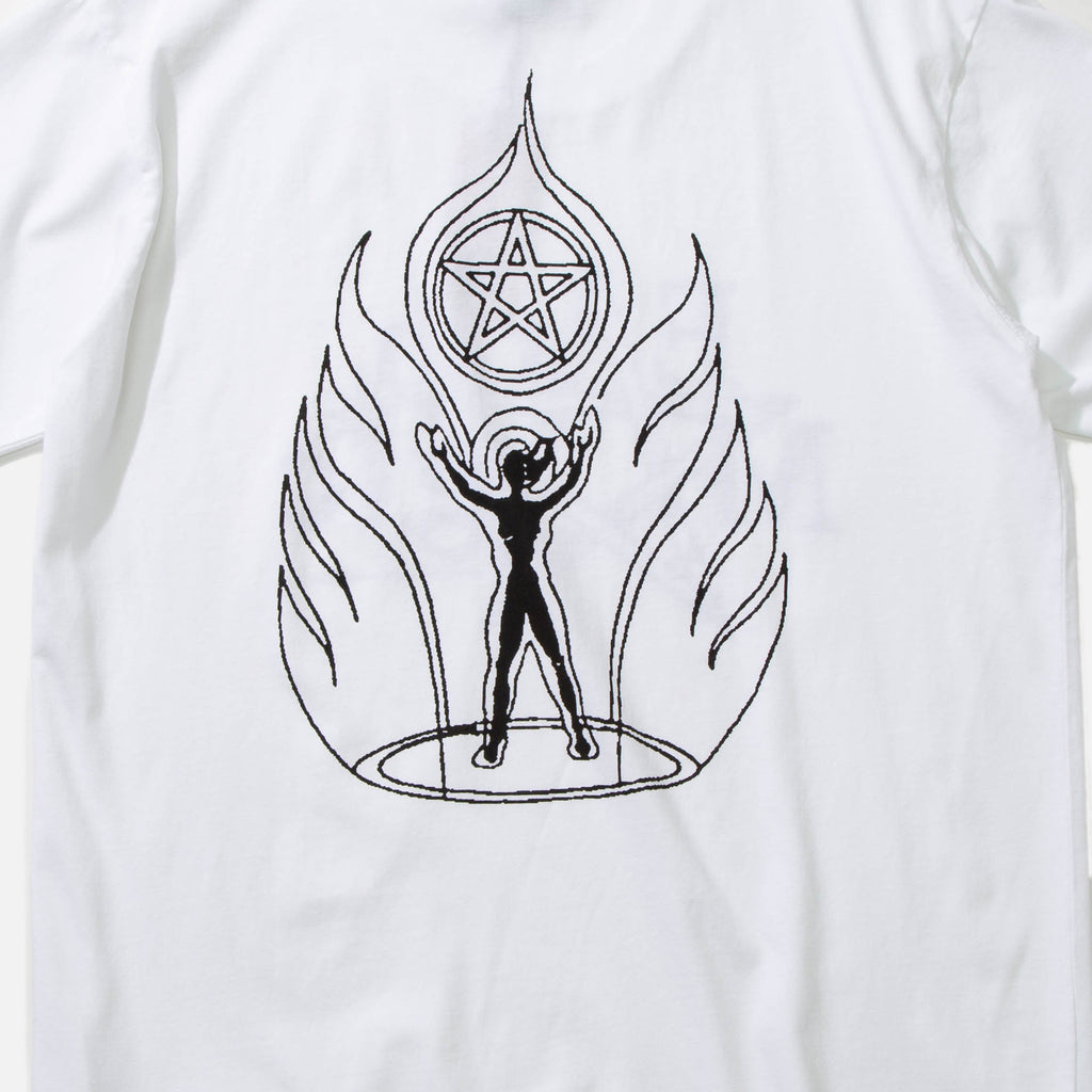 Earth Magic T-shirt in White from Good Morning Tapes blues store www.bluesstore.co