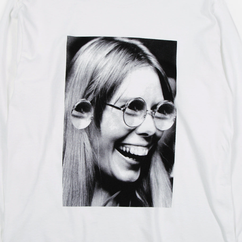 Johnn John Jonn Longsleeve T-shirt in White from Good Morning Tapes www.bluesstore.co