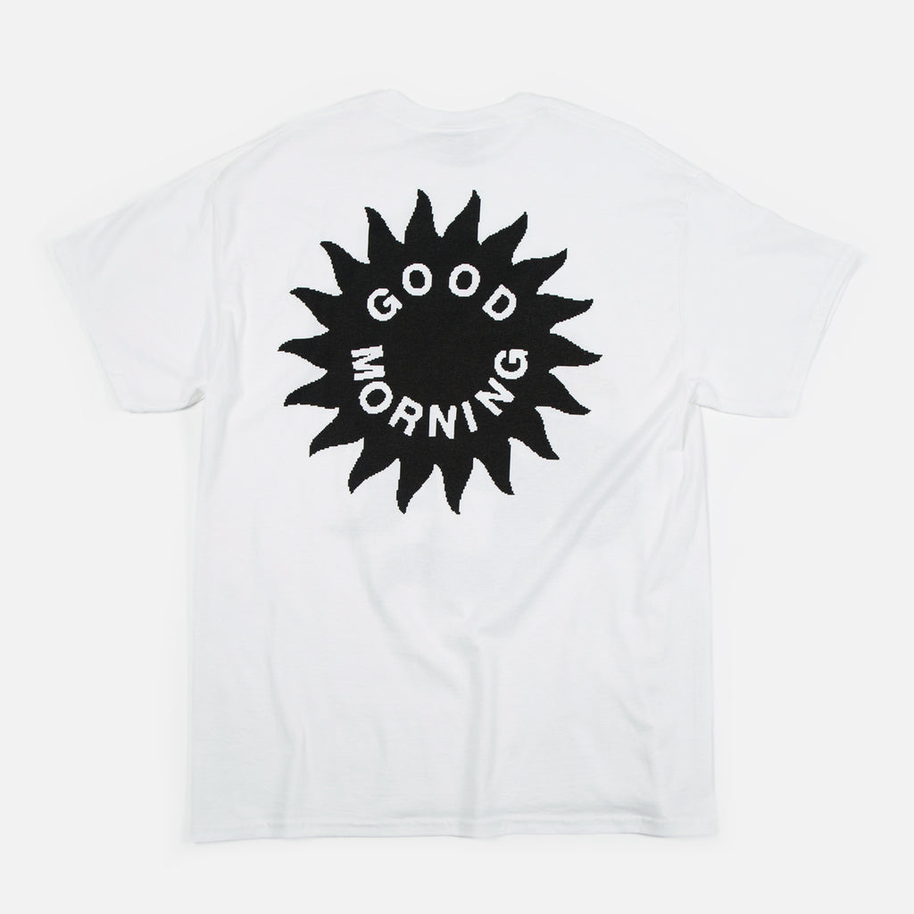 Magnolia Shade T-shirt in White from Good Morning Tapes www.bluesstore.co