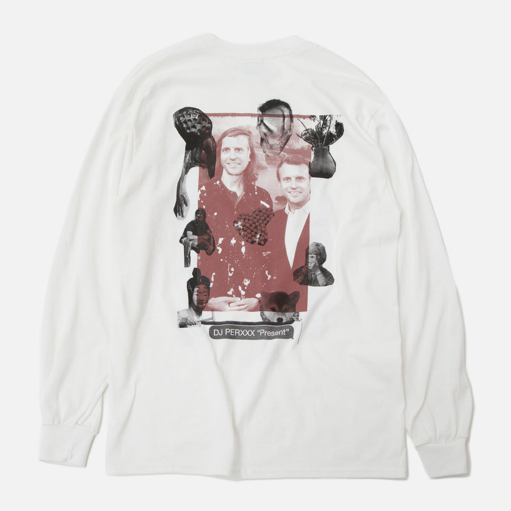 Good Morning Tapes Misha Hollenbach DJ Perxxx Longsleeve T-shirt in White Blues Store