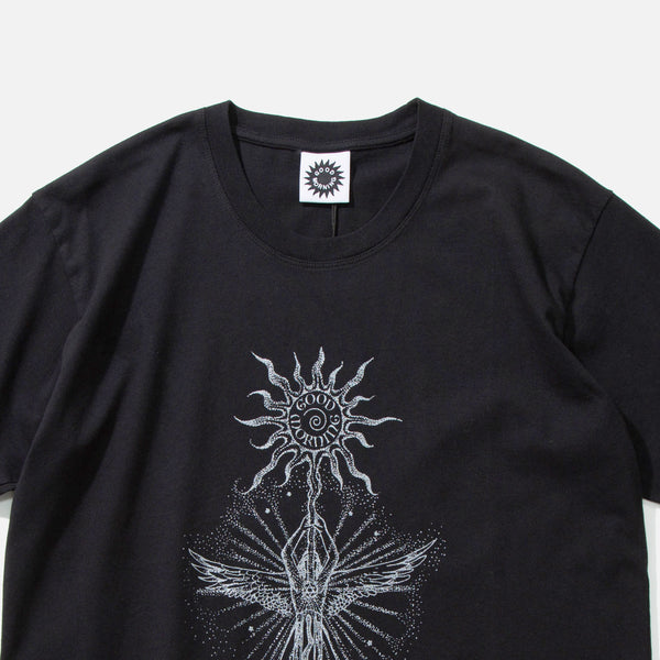 Skyrager T-shirt in Washed Black from Good Morning Tapes blues store www.bluesstore.co