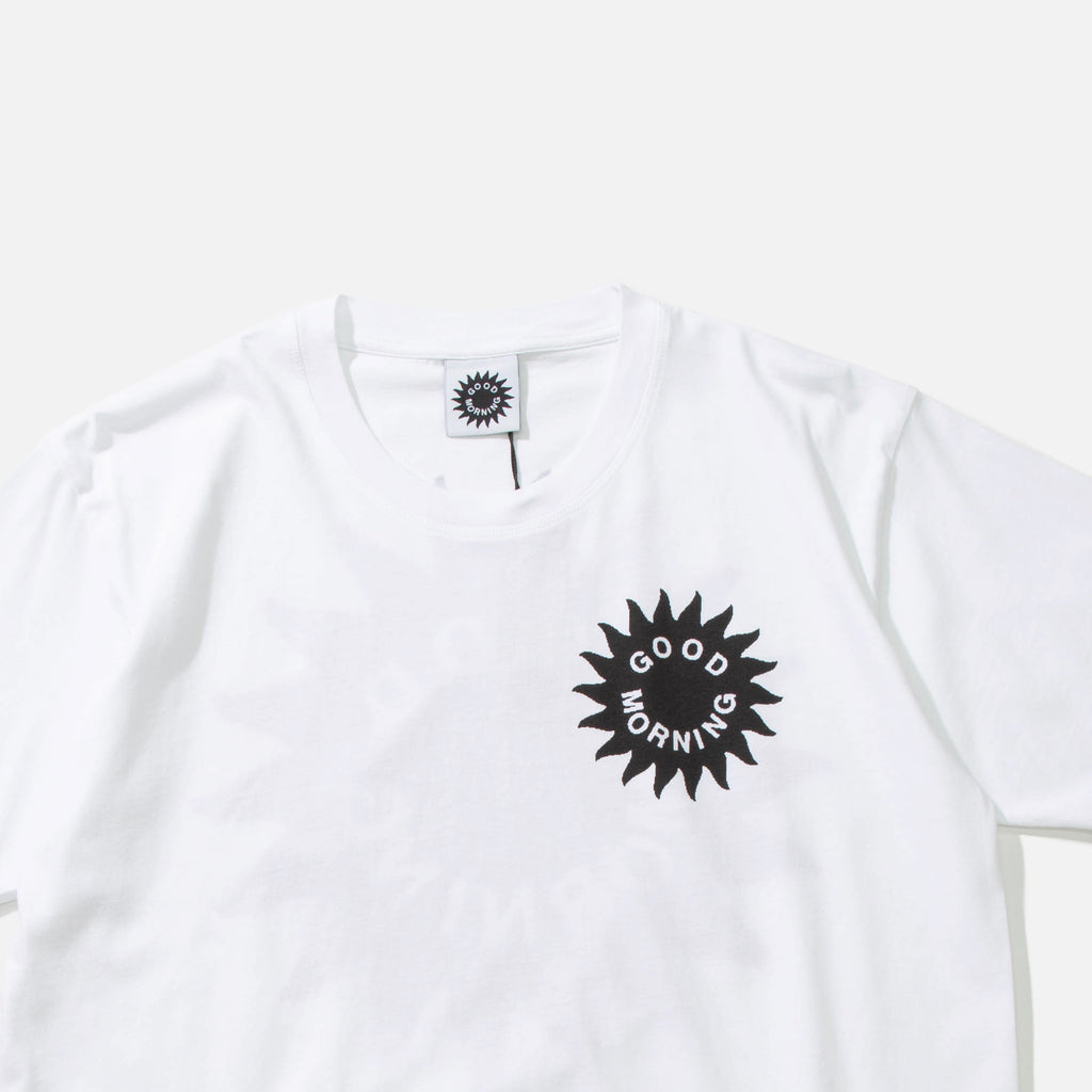 Sun Logo T-shirt in White from Good Morning Tapes blues store www.bluesstore.co