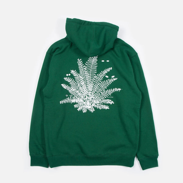 Super Natural Hoodie in Dark Green from Good Morning www.bluesstore.co