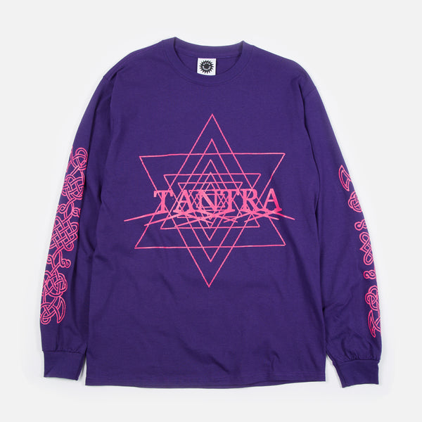 Tantra Longsleeve T-shirt in Purple from Good Morning Tapes www.bluesstore.co