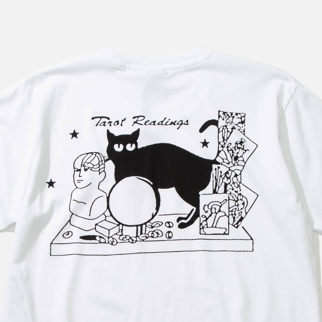 Tarot Readings T-shirt in White from Good Morning Tapes blues store www.bluesstore.co