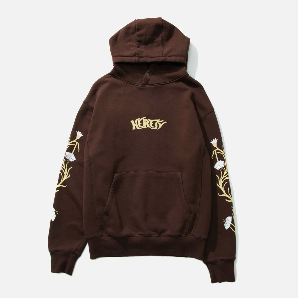 Planter hoodie in brown from Heresy blues store www.bluesstore.co