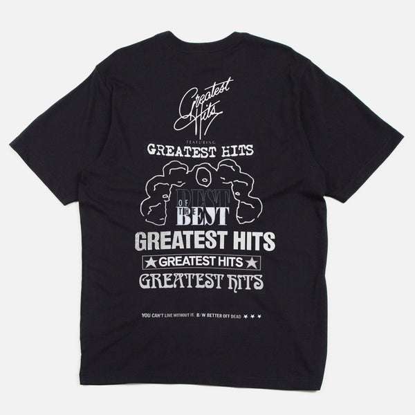 Greatest Hits - Blues for Idle Hands tee in black
