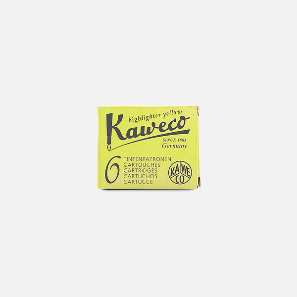 Kaweco Ink Cartridge in Highlighter Yellow blues store www.bluesstore.co