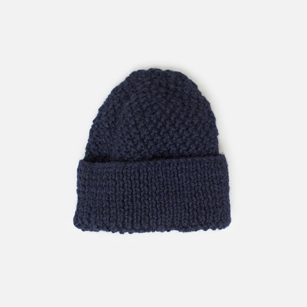 Inverallan for Colourway Honeycomb Knit Beanie - Navy