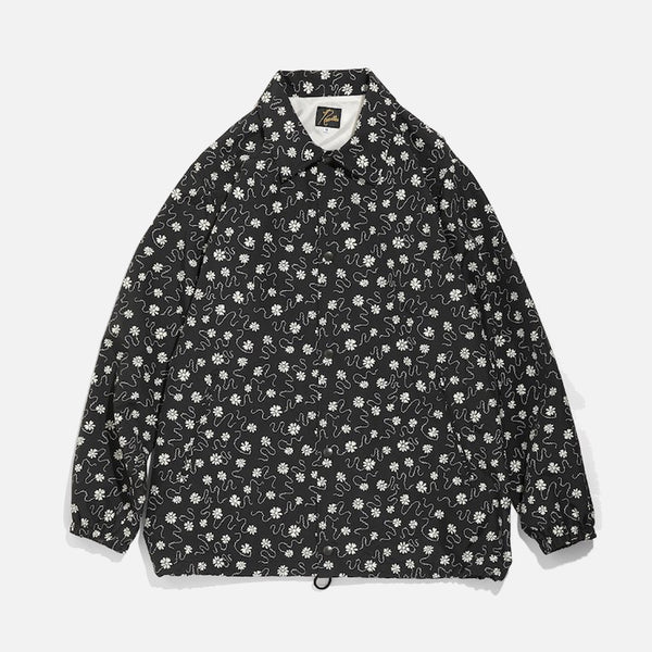 Coach Jacket in Black with Floret Nylon Tussore / Pt. from the Needles Spring / Summer 2021 collection blues store www.bluesstore.co
