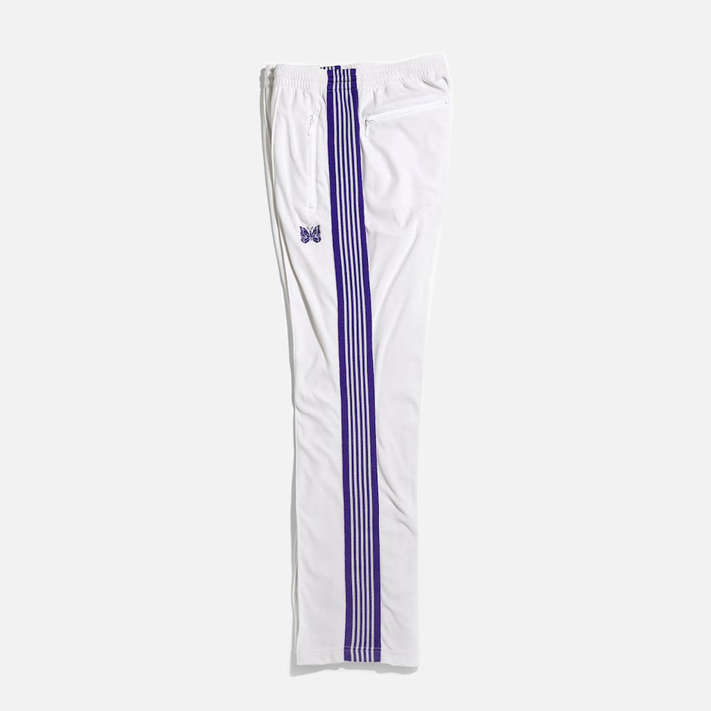 Narrow Track Pant in White C/Pe Velour from Needles Spring / Summer 2021 collection blues store www.bluesstore.co