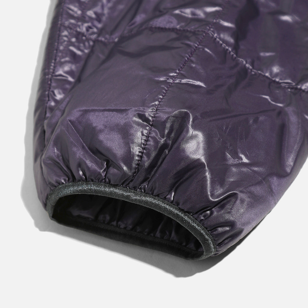 Piping Quilt Jacket in Purple Nylon Taffeta from Needles blues store www.bluesstore.co